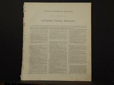 Wisconsin Lafayette County Map  Patron's Reference Directory 1916  L6#38