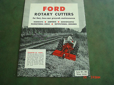 VINTAGE 1960 FORD ROTARY MOWER CUTTERS TRACTOR BROCHURE PAMPHLET Catalog #26