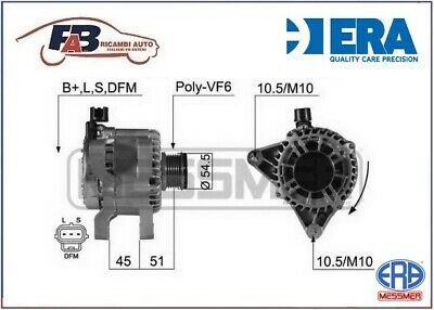 Alternatore Ford Fiesta V/ Fusion/ Mazda 2 1.4 Tdci/ Cd 14V 80Ah  - 210432