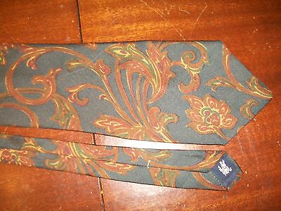 Burberry's of London hand swen silk tie floral navy