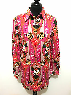 LADY MANHATTAN VINTAGE '60 Camicia Donna Hippie Cotton Woman Shirt Sz.L - 46