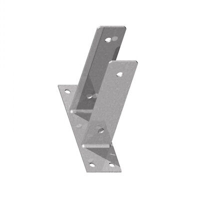 "Fencemate Galvanised Bolt Down U Post Support for 75 mm100 mm or 3 or 4 "" Posts"