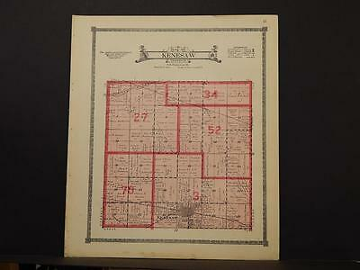 Nebraska Adams County Map Kenesaw Township 1919 L6#52