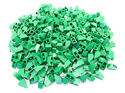 LEGO Green Slope 45 2x1 Lot of 100 Parts Pieces 3040