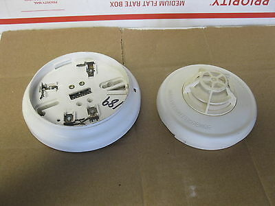 SIMPLEX 4098-9615 HEAT DETECTOR HEAD & 4098-9788 Base