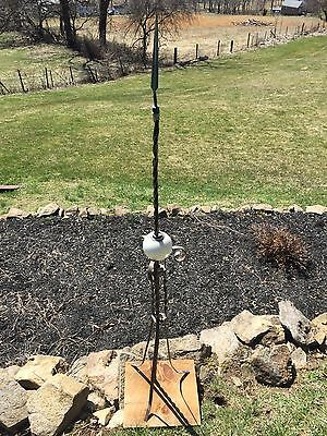 Antique White Kretzer Copper Cast Iron Lightning Rod