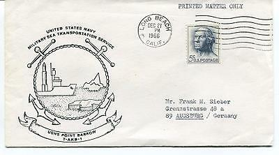 1966 USNS Point Barrow Military Sea Transport Long Beach Polar Antarctic Cover