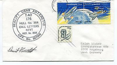 Sealift USNS Antarctic T-AO 176 Hull n°364 Call Letters Polar Cover SIGNED