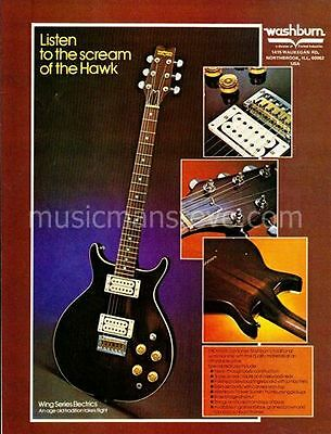 WASHBURN ELECTRIC GUITARS AD 1978 showing the WING SERIES