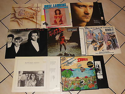 80ziger POP SAMMLUNG - 8 VERSCHIEDENE LP'S TOP! MEN AT WORK, HEAVEN 17, DURAN