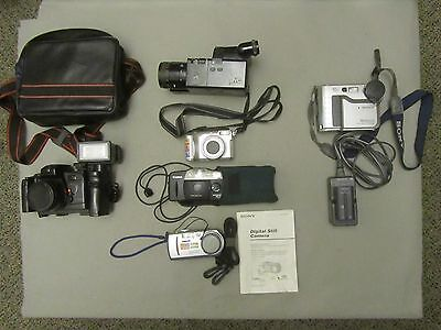 Lot of 6 CAMERAS for Parts or Repair  Not Tested