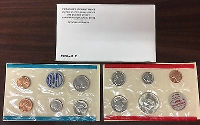 1970 US Mint Set 10 Coins UnCirculated With OriginalGovernment  Pkg ~ TraderNick