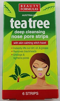 Tea Tree Nose Pore Strips Blackhead Removal Smooth Deep Cleansing Unclog Pores