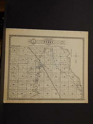 North Dakota Grand Forks County Map Perry Township 1927   L6#71