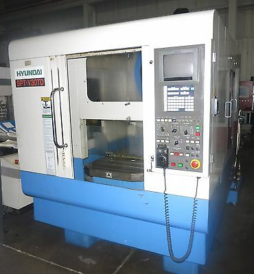 Hyundai Model Sptv30Td Cnc Tapmill Center With Pallet Changer