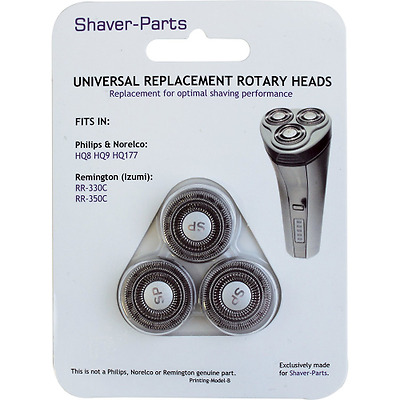 Shaver-Parts: suitable for Philips & Remington HQ8 HQ9 HQ177 Têtes de rasag
