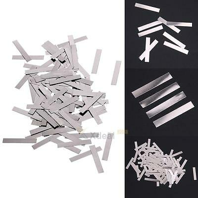 100Pcs 4x25mm Nickel Plated Steel Strap Strip Sheets for battery Spot Welding