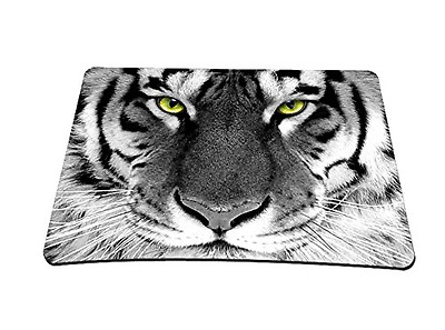 Silent Monsters Tapis de souris 22 x 18 cm Motif Tiger Multicolore