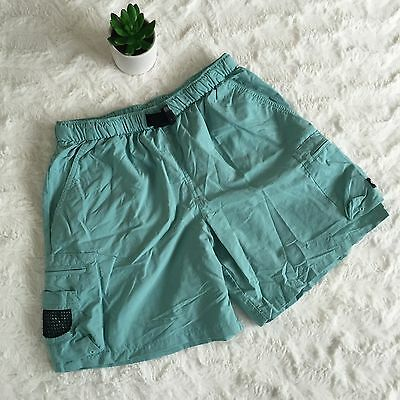 Youth Columbia Outdoor Hiking Camping Nylon Shorts Green Size 10/12