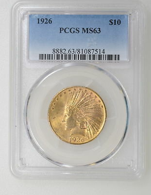 1926 Pcgs Ms63 $10.00 Indian Head Gold Eagle. Great Color - I-5915