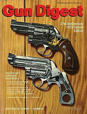 Collector Book Gun Digest 27th Anniversary De Luxe Edition 1973