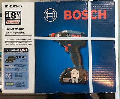 "Bosch IDH182-02 18v Brushless 1/4"" Hex Impact Driver NEW"