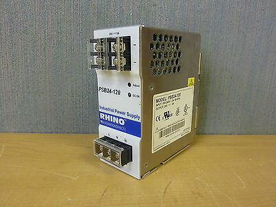Automation Direct Rhino PSB24-120 Power Supply In 100240VAC Out 24VDC 5A (14212)