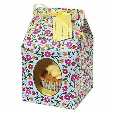 4 Meri Meri Floral Pattern Small Single Cupcake/Cake Box