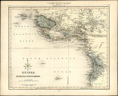 West Africa Mts. of Moon Guinea Nigritia Senegambia tribes 1848 Gilbert Archer