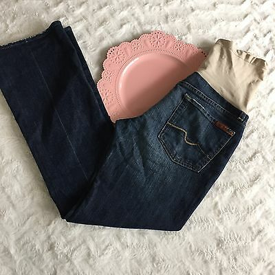 Women's Maternity 7 For All Mankind Jeans Bootcut Size 28