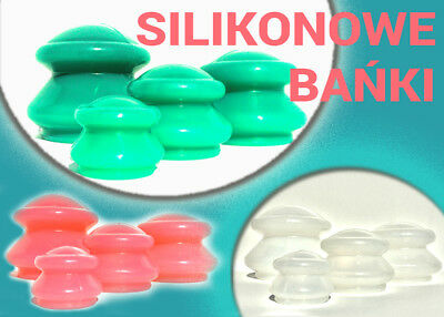 4 Chinese Silicone Cupping  Acupuncture, Massage Cellulite Therapy BEST QUALITY