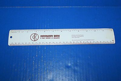 "Vintage 12"" Advertising Ruler Community Bank Chicago"
