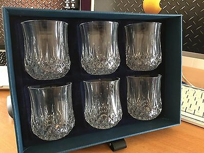 Cristal d'arques 6 Longchamp Crystal Water Glass 23cl French Lead Crystal NEW