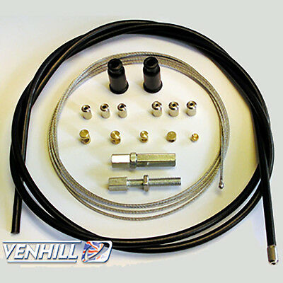 Venhill Universal Motorcycle Throttle Cable Kit 92 Inch - 5mm Conduit