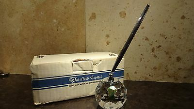 *VINTAGE* Waterford Crystal PEN and PAPERWEIGHT SET Made in IRELAND