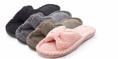 Wholesale Lot of 36prs WOMENS PLUSH BOW SLIPPER , Only $3.25