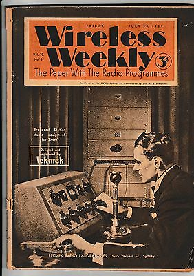 Wireless Weekly   The Paper With The Radio Programmes....july 30,   1937