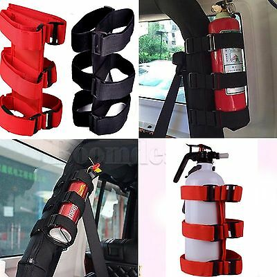 Roll Bar Fire Extinguisher Holder For Jeep Wrangler Safety Accessory Kit #HAU