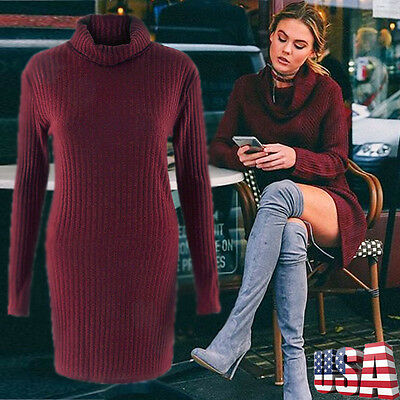 Women Casual Long Sleeve Knitted Loose Long Pullover Sweater Jumper Top Knitwear