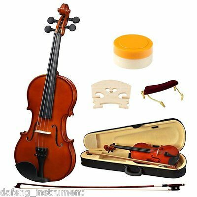 Professional Violin 1/2 Size Solid Wood Kids Acoustic Violin w/ Hard Case