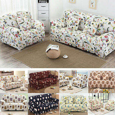 1/2/3/4 Seater Stretch Elastic Fabric Sofa Cover Couch Slipcover Protector Fit