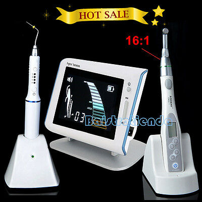 Dental 16:1 Endo Motor Root Canal Treatment+Apex Locator+Gutta Percha Heated Pen