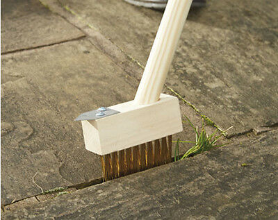 Weed Clear Block Paving Slab Brush Patio Driveway Path Moss Clearer Scrubber