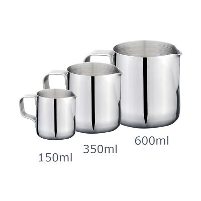 Stainles Steel Frothing Pitcher Tea Coffee Latte Art Milk Kitchen Jug Cup New