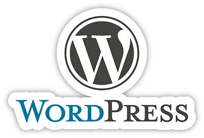 Wordpress free and open source blogging adesivo etichetta sticker 13cm x 8cm