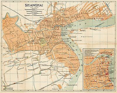 1924 map of Shanghai, China- 上海