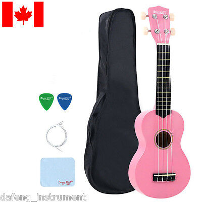 21 Inch Soprano Ukulele Beginners Hawaii Guitar Wood Music Instrument Pink