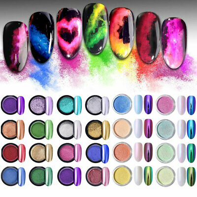 Mirror Powder Glitter Manicure Nail Art Chrome Pigment 9colors BORN PRETTY