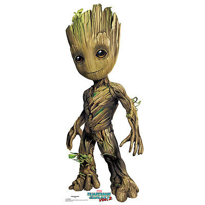 BABY GROOT Guardians of the Galaxy 2 CARDBOARD CUTOUT Standup Standee Poster F/S