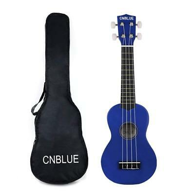 21 Inch Soprano Ukulele Beginners Hawaii Guitar Wood Music Instrument Blue